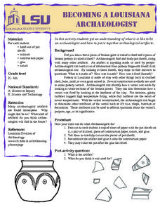 Becoming a Louisiana Archaeologist Lesson Plan