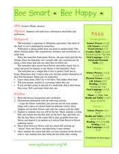 Bee Smart Bee Happy Lesson Plan