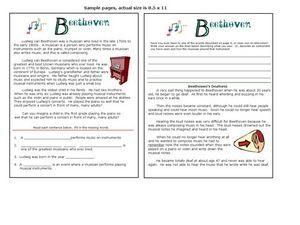 Beethoven Worksheet Worksheets For School - Studioxcess