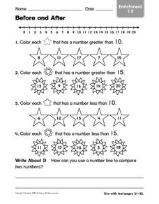 Before and After: Enrichment Worksheet