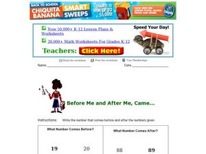 Before Me and After Me, Came . . . Worksheet