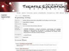 Beginning Acting Lesson Plan