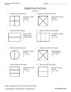 math worksheet : beginning fractions worksheet 1 3rd  5th grade worksheet  lesson  : Beginning Fractions Worksheets
