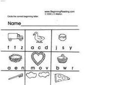 Beginning Letters Lesson Plan