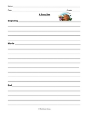 Beginning, Middle, End in Paragraph Writing Worksheet
