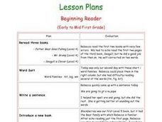 Beginning Reader Lesson Plan