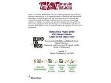 Behind the Music 2000 Lesson Plan