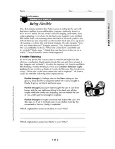 Being Flexible Worksheet