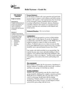 Belief Systems Lesson Plan