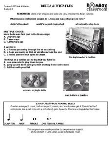Bells and Whistles Worksheet