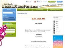 Ben and Me: Ben Franklin History Through Literature Unit Lesson Plan