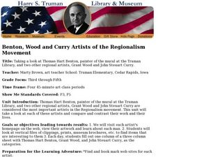 Benton, Wood and Curry Artists of the Regionalism Movement Lesson Plan