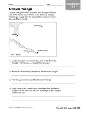 Bermuda Triangle - Enrichment 16.4 Worksheet