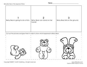 Betsy Bear Does a Trick Worksheet
