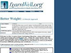 Better Weight Lesson Plan