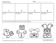 Betty Bear Does a Trick Sequence of Four Worksheet