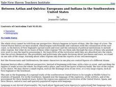 Between Aztlan and Quivira: Europeans and Indians in the Southwestern United States Lesson Plan