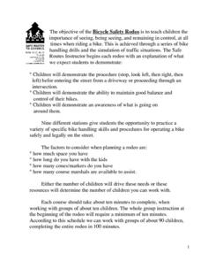 Bicycle Safety Rodeo Lesson Plan