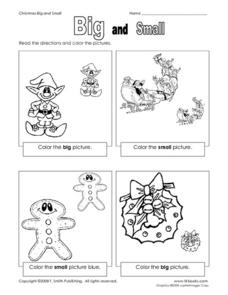 Big and Small: Learning Size Worksheet