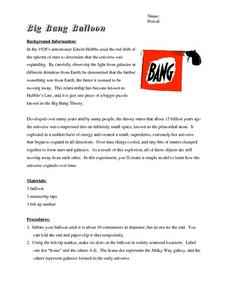Big Bang Balloon Worksheet