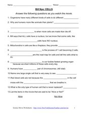 Printables Bill Nye Cells Worksheet bill nye cells video worksheet 6th 7th grade worksheet