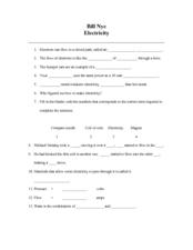 Worksheets Bill Nye Static Electricity Worksheet bill nye electricity worksheet ukrobstep com static 6th 10th grade worksheet
