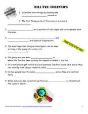 forensic science worksheets - The Best and Most Comprehensive ...