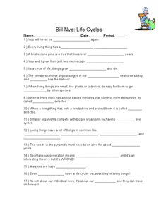 Bill Nye The Science Guy Water Cycle Worksheet Answers ...