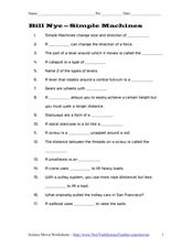 bill nye simple machines 3rd 5th grade worksheet lesson planet. Black Bedroom Furniture Sets. Home Design Ideas