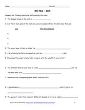 bill nye skin video questions 5th 10th grade worksheet. Black Bedroom Furniture Sets. Home Design Ideas