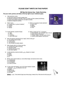 bill nye the science guy static electricity 5th 9th grade worksheet lesson planet. Black Bedroom Furniture Sets. Home Design Ideas