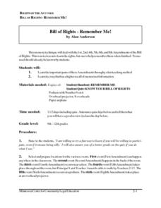 Bill of Rights - Remember Me! Lesson Plan
