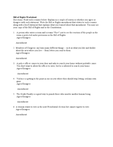 Worksheets Interpreting The Bill Of Rights Worksheet bill of rights worksheet for middle school worksheets studimages com 17 best images about teaching government to 3rd graders on