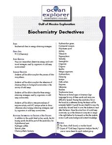 Biochemistry Detectives Lesson Plan