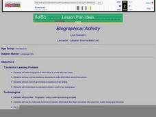 Biographical Activity Lesson Plan