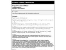 Biographical Research Paper Lesson Plan