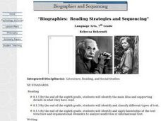 Biographies: Reading Strategies and Sequencing Lesson Plan