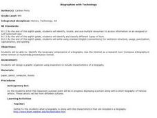Biographies with Technology Lesson Plan