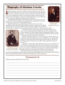 A summary of the life and career of abraham lincoln