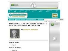Biological and Cultural Diversity of a Latin American Country Lesson Plan