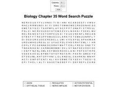 Biology Chapter 35 Word Search Worksheet