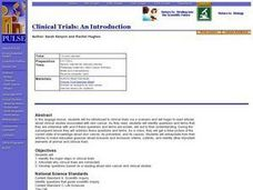 Biology: Clinical Trials: An Introduction Lesson Plan