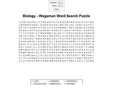 Biology Wagaman Word Search Worksheet