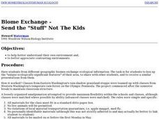 "Biome Exchange - Send the ""Stuff"" Not The Kids Lesson Plan"