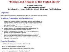 Biomes and Regions of the United States Lesson Plan