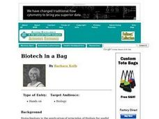 Biotech in a Bag Lesson Plan