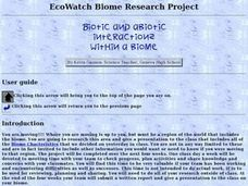 Biotic and Abiotic Interactions Within a Biome Lesson Plan