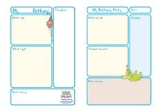 Birthday Journal Worksheet Worksheet