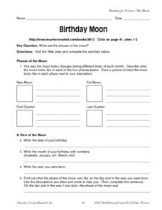 Birthday Moon Worksheet