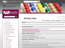 Birthday Party Lesson Plan